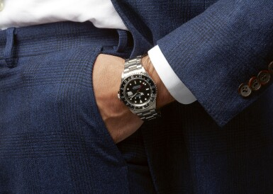 View 4. Thumbnail of Lot 50. ROLEX | GMT-MASTER REF 16710, A STAINLESS STEEL AUTOMATIC DUAL TIME WRISTWATCH WITH DATE AND BRACELET CIRCA 1996.