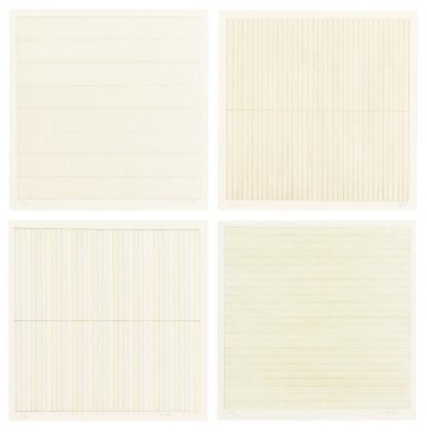 View 1. Thumbnail of Lot 63. AGNES MARTIN    UNTITLED.