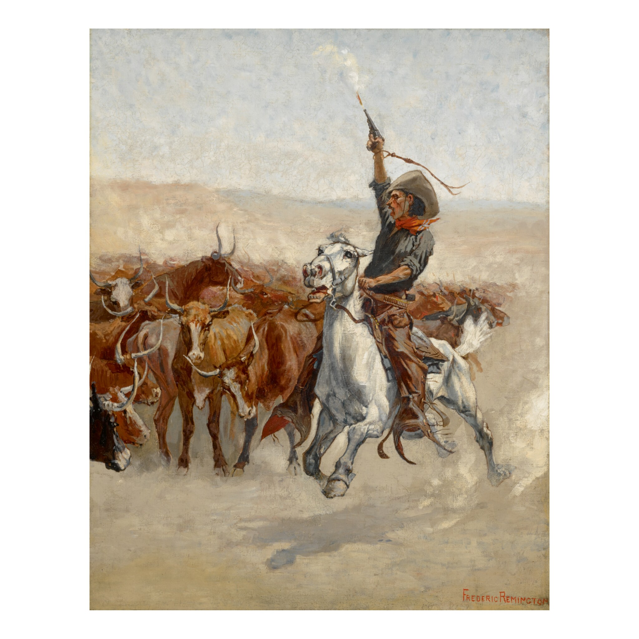 View full screen - View 1 of Lot 52. FREDERIC REMINGTON   THE ROUND-UP.