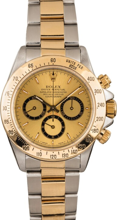 View 2. Thumbnail of Lot 11. ROLEX   Daytona, Ref. 16523, A Stainless Steel and Yellow Gold Chronograph Wristwatch with Bracelet, Circa 1995  .