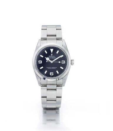 ROLEX | EXPLORER REF 14270, A STAINLESS STEEL AUTOMATIC CENTER SECONDS WRISTWATCH WITH BRACELET CIRCA 1997