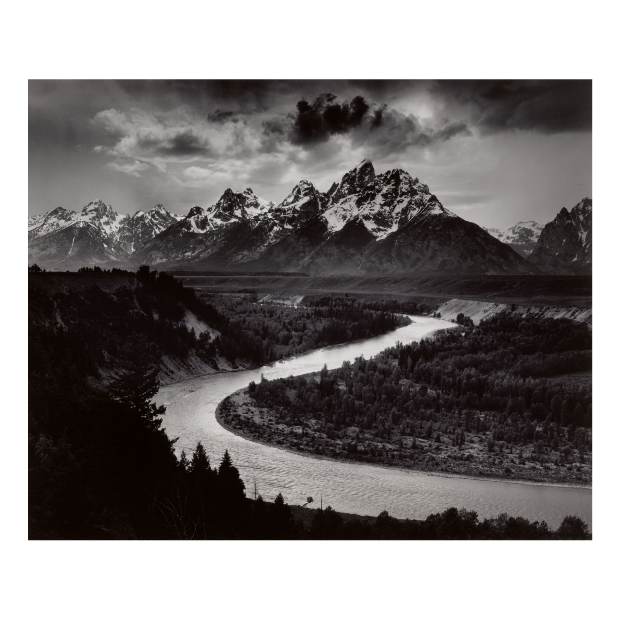 View full screen - View 1 of Lot 140. ANSEL ADAMS | 'THE GRAND TETONS AND THE SNAKE RIVER, GRAND TETON NATIONAL PARK, WYOMING'.