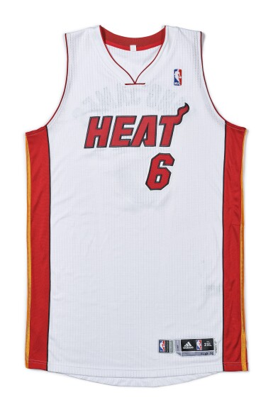 "View 1. Thumbnail of Lot 1. LeBron James ""King James"" Game Worn 2013-2014 Season Jersey."
