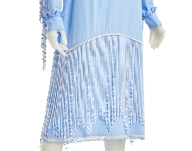 View 7. Thumbnail of Lot 23. PRADA | BEADED FRINGE EMBROIDERY DRESS,  ONE OF A KIND, NOT IN THE SHOW NEITHER IN THE STORES.