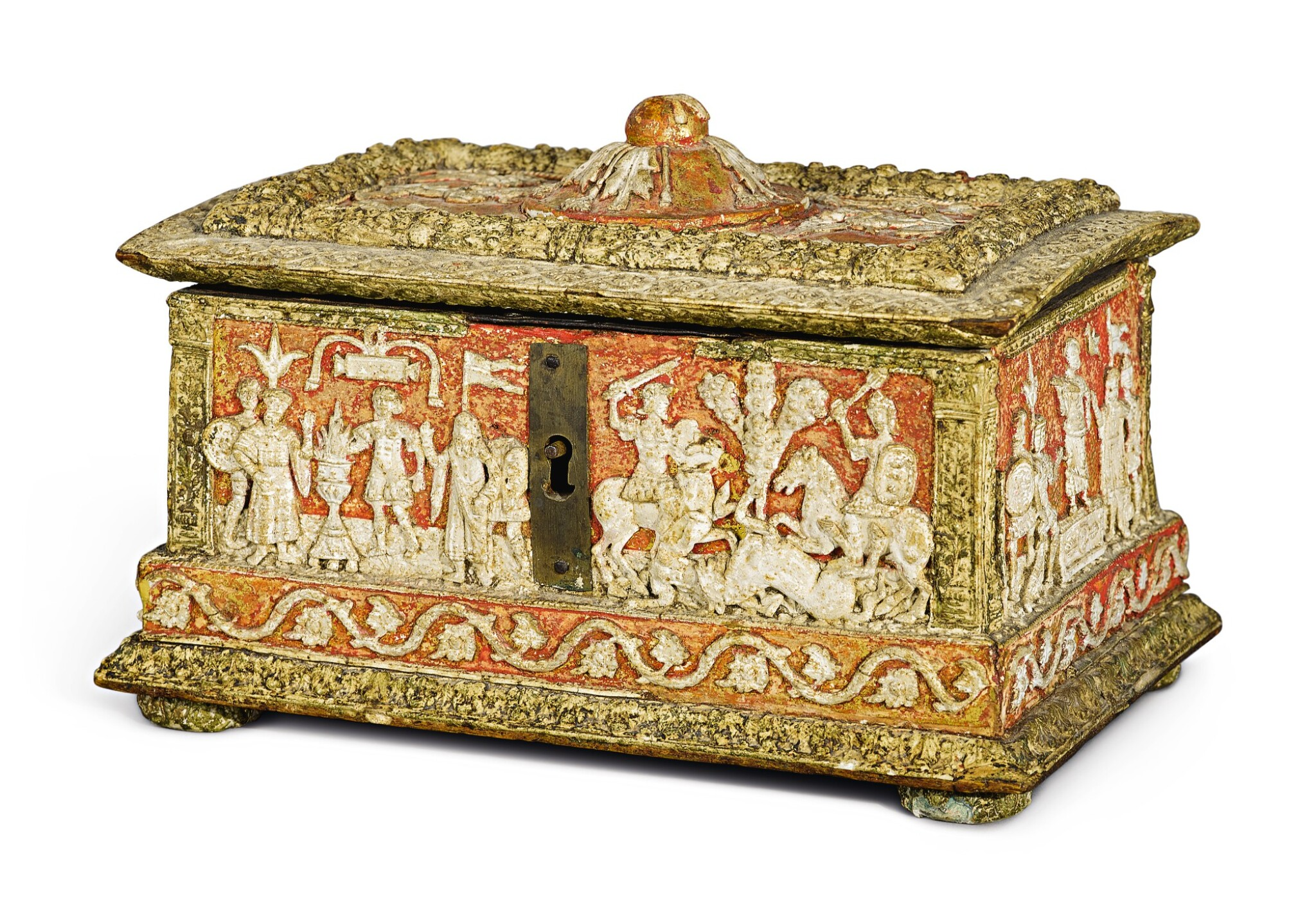 View full screen - View 1 of Lot 723. Casket with classical subjects.