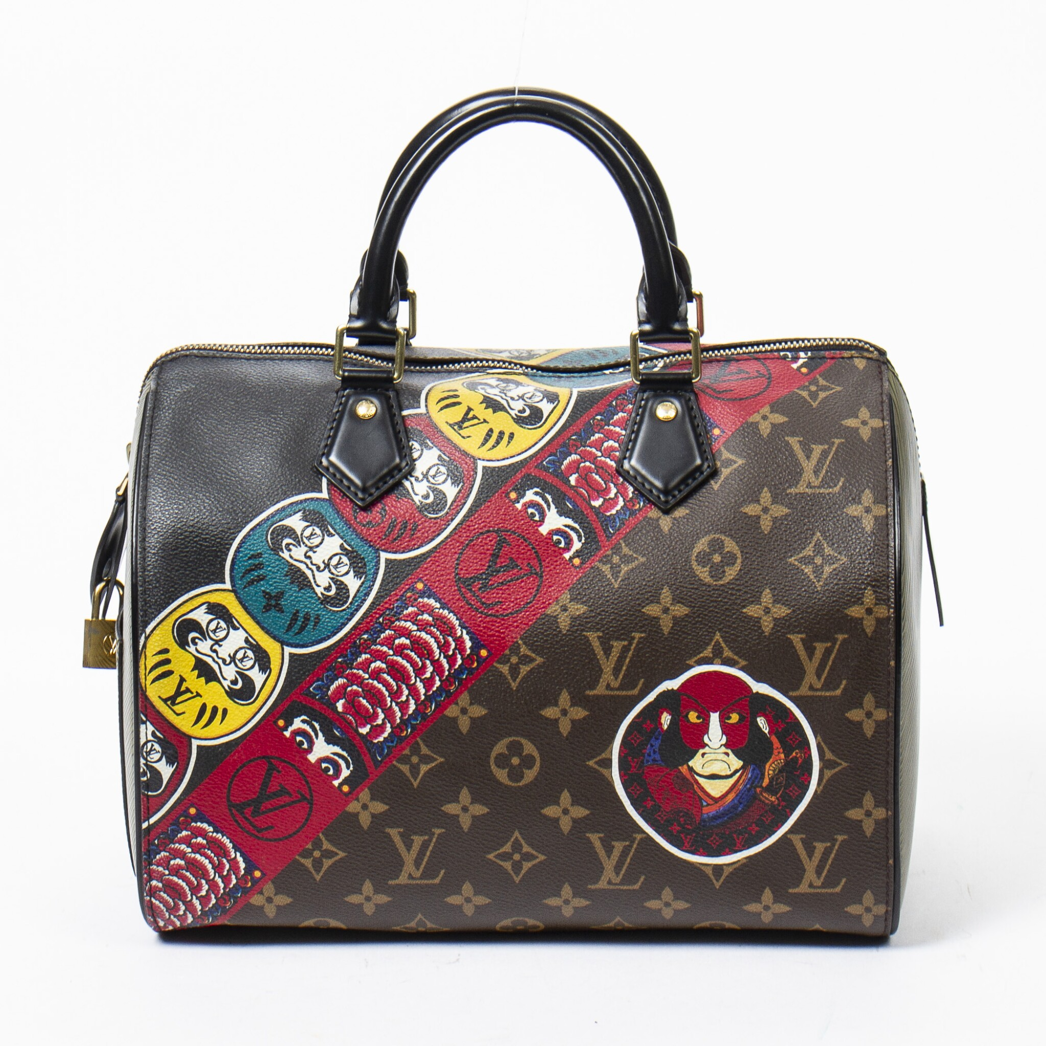 """View full screen - View 1 of Lot 7. Brown, Black and Khaki Green Kabuki Limited Edition """"Kabuki"""" Speedy 30 in Monogram Canvas with Golden Brass Hardware, 2017."""