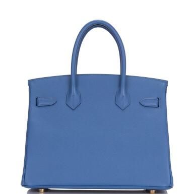 View 4. Thumbnail of Lot 9. Hermès Bleu Brighton Birkin 30cm of Epsom Leather with Gold Hardware.