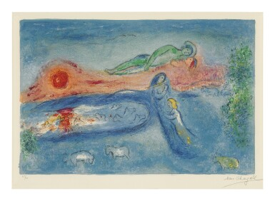 View 1. Thumbnail of Lot 10. MARC CHAGALL   DEATH OF DORCON (M. 320; SEE C. BKS. 46).