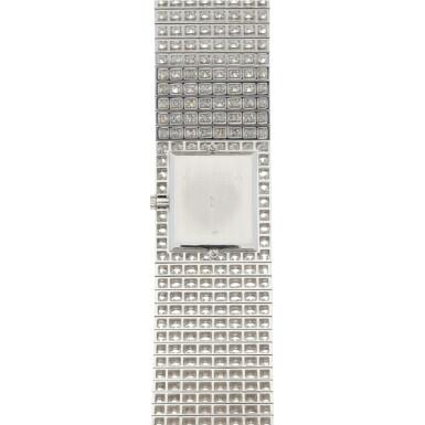 View 6. Thumbnail of Lot 60. Kalla, Ref. 35704-707G White gold and diamond-set bracelet watch Made in 1990 | 江詩丹頓35704-707G型號「Kalla」白金鑲鑽石鍊帶腕錶,1990年製.
