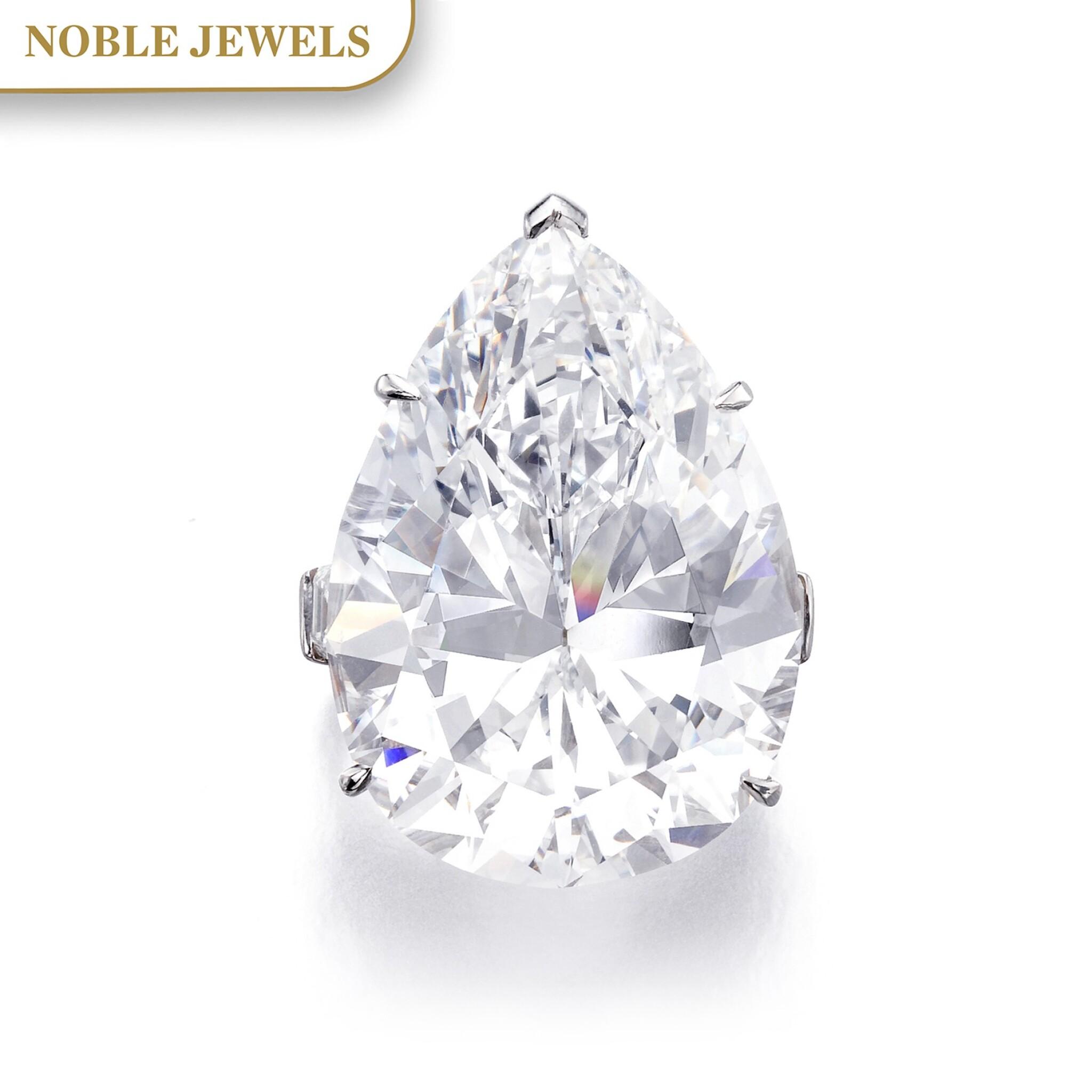 View full screen - View 1 of Lot 174.   Harry Winston | Important diamond ring | 海瑞溫斯頓 | 鑽石戒指.