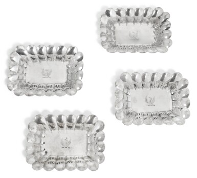 A SET OF FOUR GEORGE III SILVER SWEET DISHES, PAUL STORR, LONDON, 1798