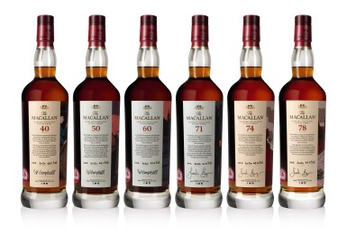 View 2. Thumbnail of Lot 1. The Macallan Red Collection with Exclusive Labels Illustrated by Javi Aznarez (6 bts 70cl).