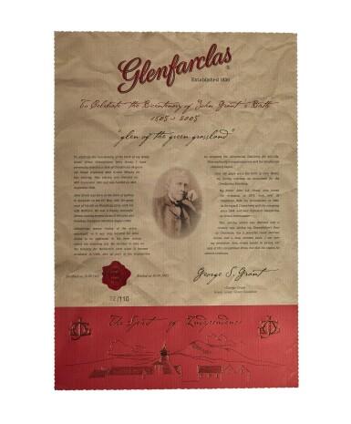 View 4. Thumbnail of Lot 251. GLENFARCLAS JOHN GRANT'S BICENTENARY 1805 TO 2005  50 YEAR OLD 44.4 ABV 1955  .