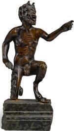 AFTER SEVERO CALZETTA DA RAVENNA (ACTIVE CIRCA 1496-1543), ITALIAN, PROBABLY PADUA, SECOND HALF 16TH CENTURY | KNEELING SATYR