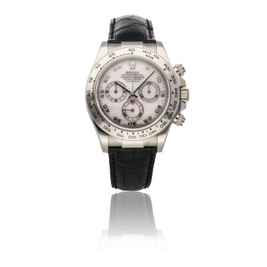 ROLEX | DAYTONA REF 116519, A WHITE GOLD AUTOMATIC CHRONOGRAPH WRISTWATCH WITH PINK MOTHER OF PEARL DIAL CIRCA 2012