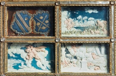 View 5. Thumbnail of Lot 802. pair of framed sets of reliefs with Ovid's Metamorphoses.