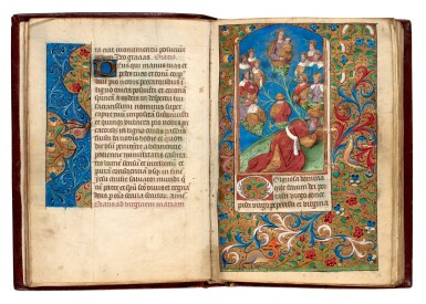 View 3. Thumbnail of Lot 34. Book of Hours, Use of Reims, illuminated manuscript on vellum [France, late 15th century].