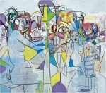 GEORGE CONDO 喬治 · 康多 | PURPLE AND YELLOW ABSTRACTION 紫黃色抽象