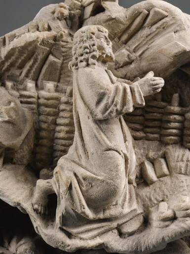 FRENCH, 15TH CENTURY | RELIEF WITH THE AGONY IN THE GARDEN