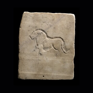 View 2. Thumbnail of Lot 100. A Roman Marble Relief Plaque, circa 2nd Century A.D..