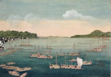 View 4. Thumbnail of Lot 116. ATTRIBUTED TO KAWAHARA KEIGA (1786–1860) STUDIO, A GROUP OF ELEVEN VIEWS STUDIO, EDO PERIOD, EARLY 19TH CENTURY  .