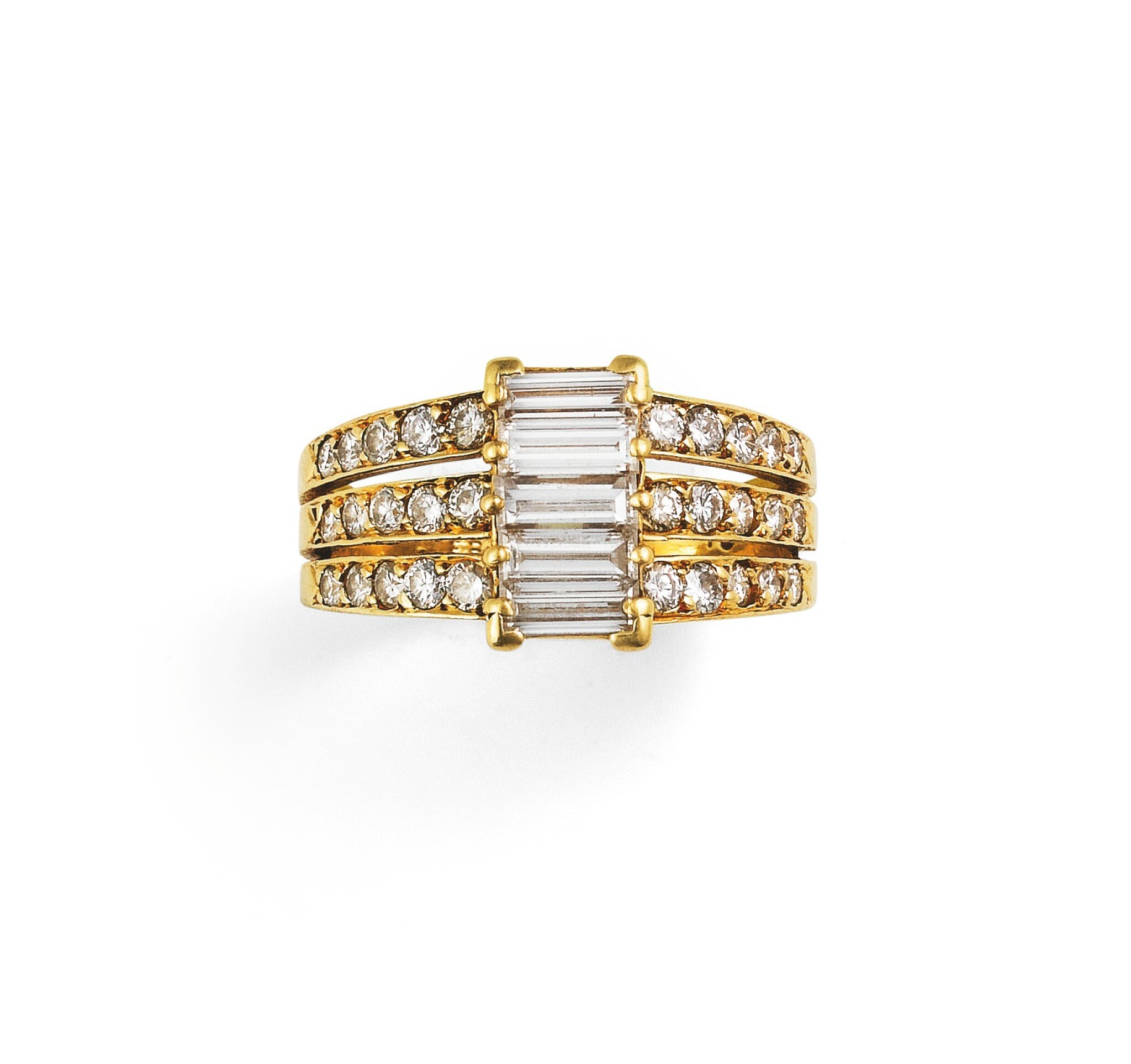 View full screen - View 1 of Lot 80. Van Cleef & Arpels, Diamond ring [Bague diamants].