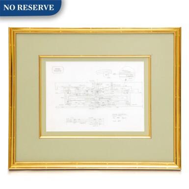 View 1. Thumbnail of Lot 2264. Patek Philippe | A framed drawing of the tourbillon escapement of calibre 89, Circa 1989 | 百達翡麗 | 陀飛輪 calibre 89 連框繪圖,約1989年製.