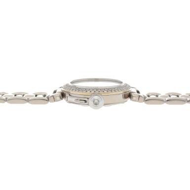 View 5. Thumbnail of Lot 472. Pasha, Ref. 2308 White gold and diamond-set wristwatch with date and bracelet Circa 2000   卡地亞 2308型號「Pasha」白金鑲鑽石鍊帶腕錶備日期顯示,年份約2000.