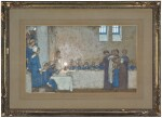 FREDERICK CAYLEY ROBINSON A.R.A., R.W.S. | STUDY FOR ONE OF THE ACTS OF MERCY MURALS AT MIDDLESEX HOSPITAL, LONDON
