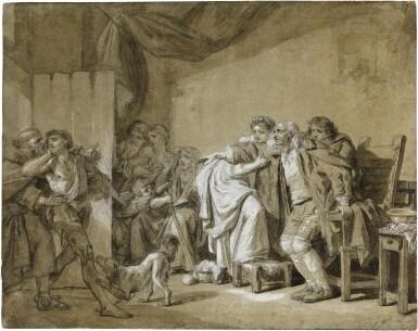 View 1. Thumbnail of Lot 64.  JEAN-BAPTISTE GREUZE | THE RETURN OF THE PRODIGAL SON.
