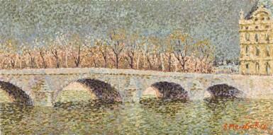View 1. Thumbnail of Lot 66. Pont du Louvre avant L'orage.