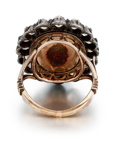 View 3. Thumbnail of Lot 9007. Diamond and Enamel Ring, Late 19th Century | 鑽石 配 琺瑯彩 戒指,19世紀末.