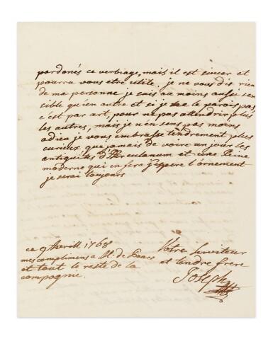 View 4. Thumbnail of Lot 8. JOSEPH II. Réunion de 19 LAS à sa sœur Marie-Caroline de Naples et de Sicile. 9 avril -17 novembre 1768. 32 p..