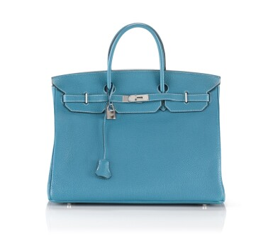 BIRKIN 40 BLUE JEAN COLOUR TOGO LEATHER. HERMÈS, 2010