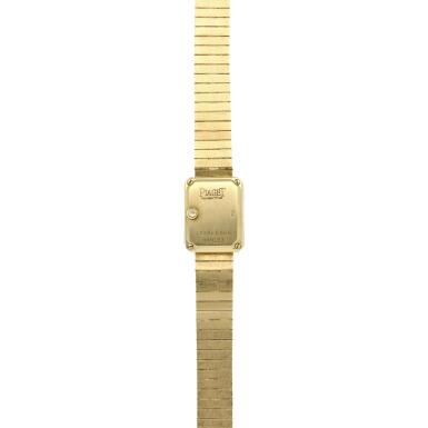 View 5. Thumbnail of Lot 29. Reference 15241 C626   A yellow gold and diamond-set bracelet watch, Circa 1990 .