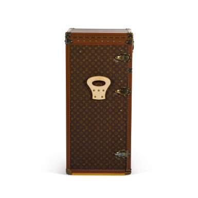 View 4. Thumbnail of Lot 63. Brown Classic Monogram Canvas Cigar Humidor Trunk Brass Hardware, Circa 1990s.