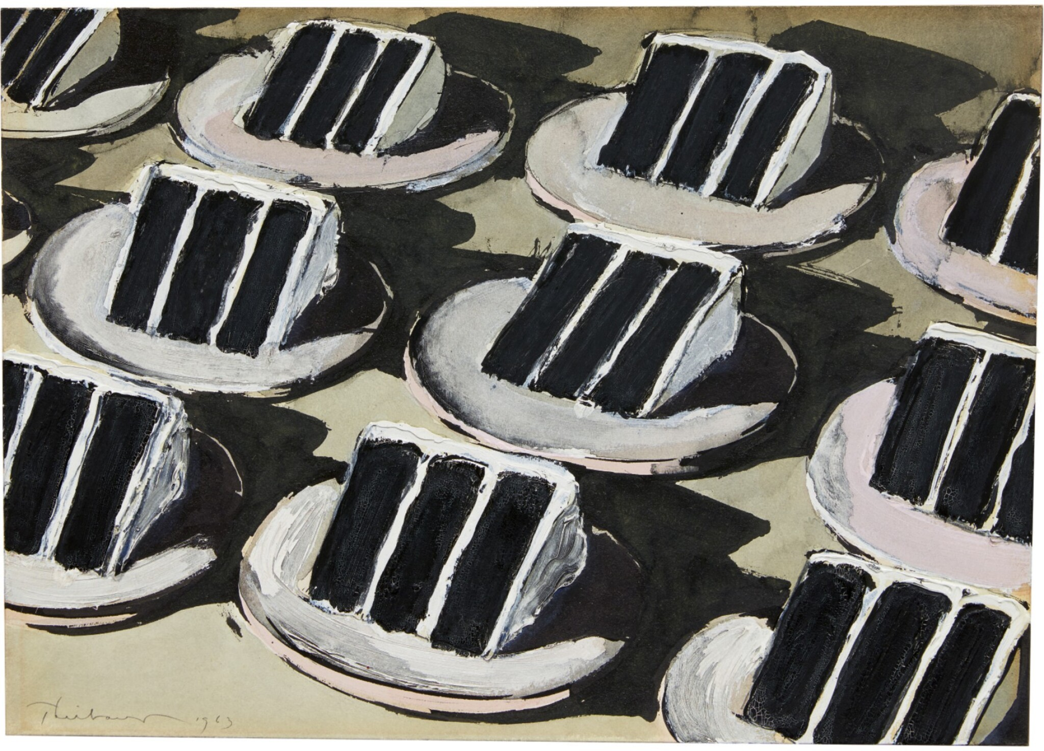 View 1 of Lot 221. WAYNE THIEBAUD | LAYER CAKE ROWS.