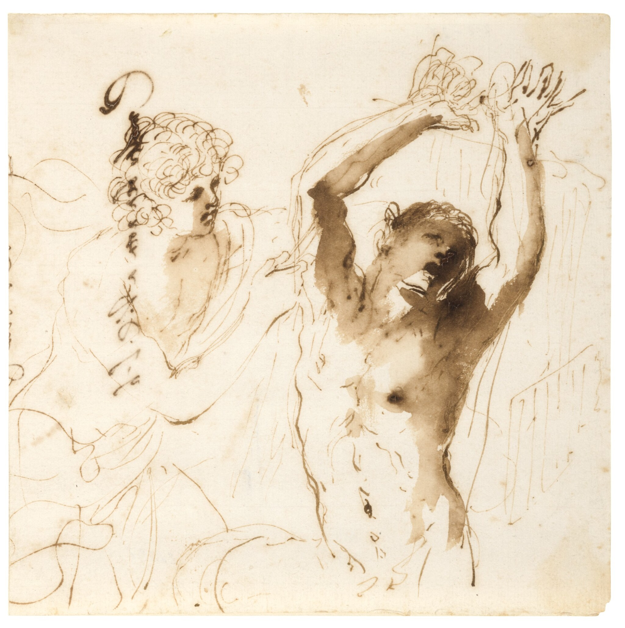 View full screen - View 1 of Lot 52. Apollo Flaying Marsyas.