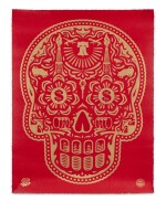 SHEPARD FAIREY (OBEY GIANT) | POWER & GLORY DAY OF THE DEAD SKULL (RED)