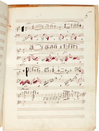 """J. Massenet. Autograph manuscript of """"Musique pour une Pièce antique"""", from """"Les Érinnyes"""", for piano, 1873"""