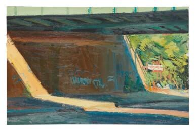 View 1. Thumbnail of Lot 584. RICHARD SHEEHAN | SUN UNDER FREEPORT BRIDGE.