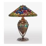 "TIFFANY STUDIOS | ""CLEMATIS"" TABLE LAMP"