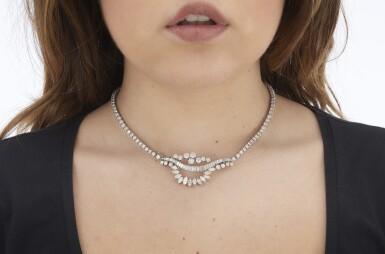 DIAMOND NECKLACE - BROOCH (COLLANA - SPILLA IN DIAMANTI)