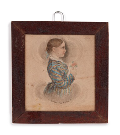 View 3. Thumbnail of Lot 6. Group of Five Miniature Portraits of the Pomeroy Family.