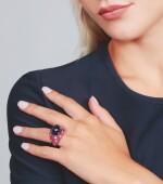 TANZANITE, RUBY AND DIAMOND RING, MICHELE DELLA VALLE