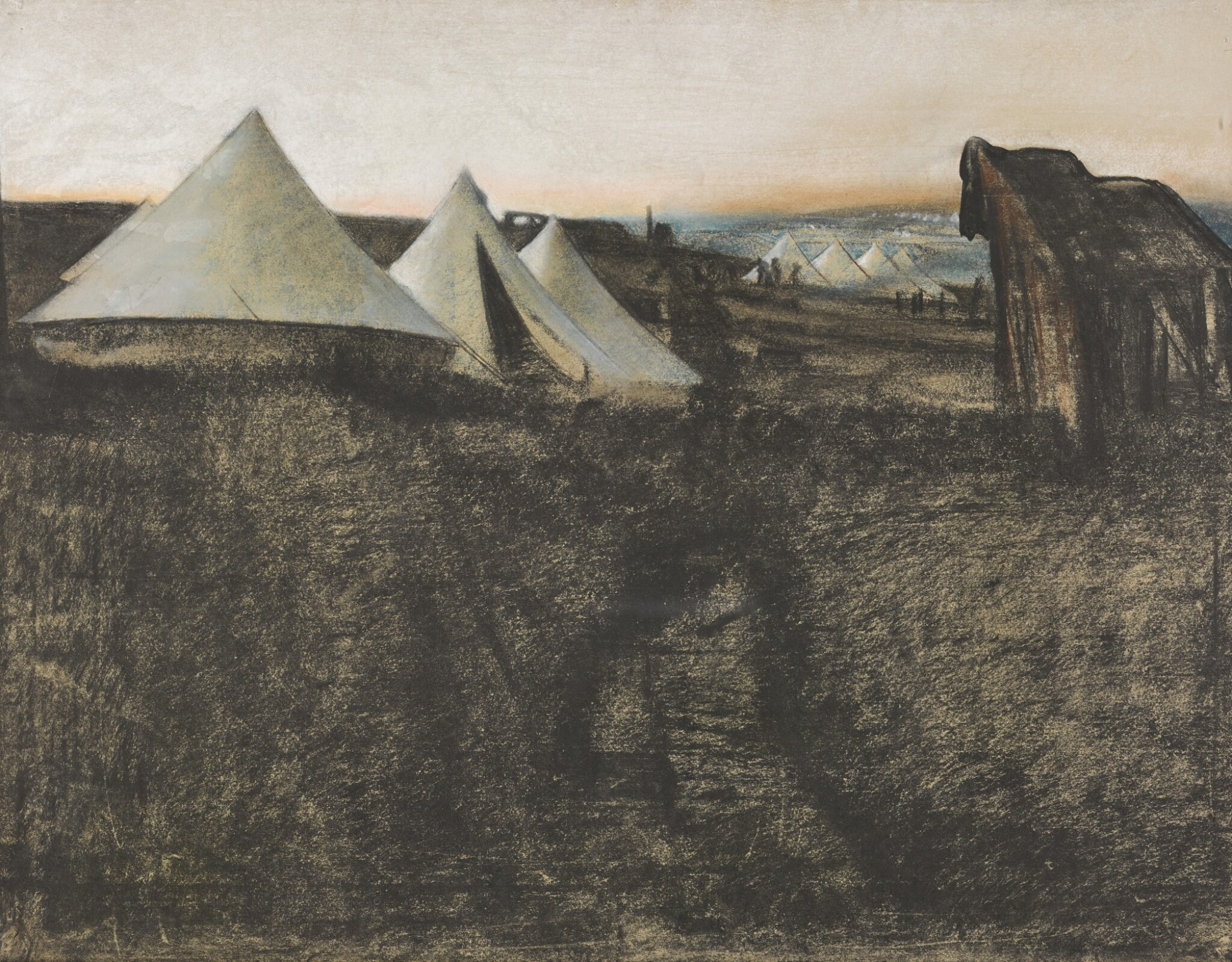 View full screen - View 1 of Lot 735. ERIC KENNINGTON, R.A. | BELL TENTS.