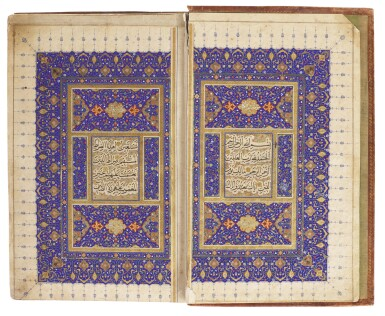 View 1. Thumbnail of Lot 27. AN EXCEPTIONAL ILLUMINATED QUR'AN, PERSIA, SAFAVID, FIRST HALF 16TH CENTURY.