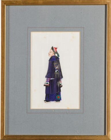 View 9. Thumbnail of Lot 163. A set of fourteen Chinese paintings on silk, Canton, 19th century.