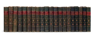 View 4. Thumbnail of Lot 338. The Naval Chronicle. 1799-1818. 40 volumes.