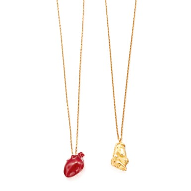 TWO GOLD PENDANT-NECKLACES, SOLANGE AZAGURY-PARTRIDGE